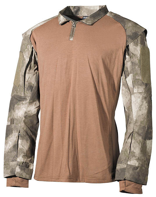 MFH T-Shirt lange Ärmel Herren Militär US tactical T-Shirt 02611P