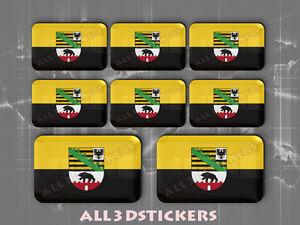 Nice Sticker Fahne 8 x 3D Kfz-Aufkleber Rechteckig Flagge Nizza