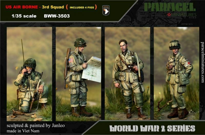 Paracel Miniatures 1 35 US Airborne Big Set Vol.3 (4 figures)