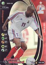 FOOTBALL CHAMPIONS 2001-02 Sylvain Wiltord 025/105 Equipe de FRANCE FOIL