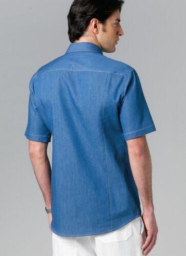 Gratis Reino Unido P/&p patrón de costura de moda para hombre fácil 8759 largo y corto manga..