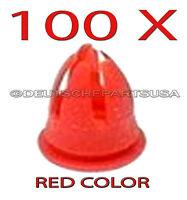100 X Red Fender & Door Molding Trim Clips For Various Mercedes Benz 0019882081