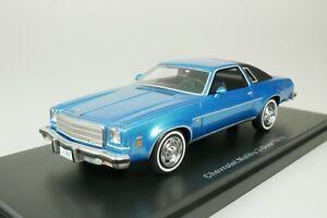 Chevrolet Malibu coupe 2-DOOR 1974 Azul - Negro 1/43 Neo 47186 Nuevo