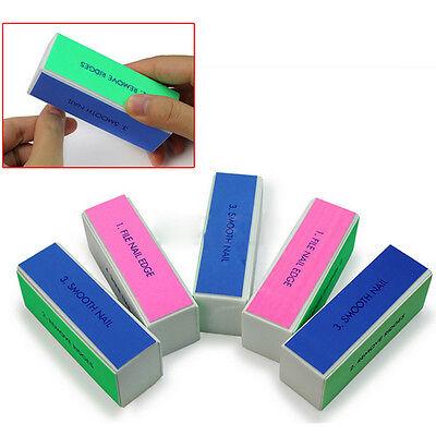5 Pcs Nail Art Manicure 4 Way Shiner Buffer Buffing Block Sanding File