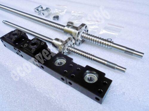 2 sets RM2005--2000 mm Anti-ballscrew/&RM2005 Ballnut /&BF15//BK15/&Coupings