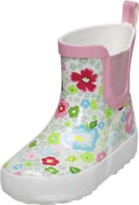 best loved f615a 493a4 Details zu PLAYSHOES Gummistiefel 25 Regenstiefel Stiefel BLÜMCHEN weiß  B-Ware
