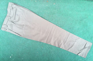 NEW MENS GERMAN POLICE SURPLUS KHAKI TAN CHINO STYLE TROUSERS,PURE NEW WOOL