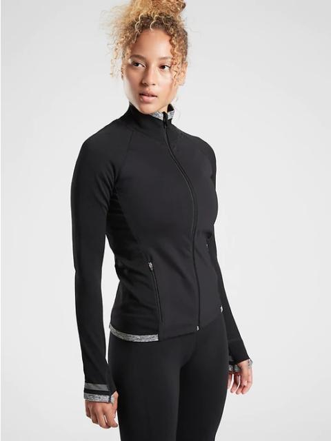 Athleta Black Andes Hybrid Jacket Small NEW Training Fitness