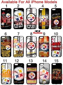 pretty nice 4f419 3c457 Details about Pittsburgh Steelers iPhone 6s iPhone 6 iPhone 7 7+ Case  iPhone x 5s 8 8+ Plus