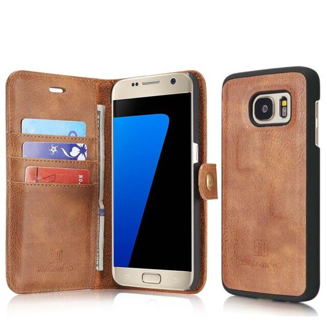 d5696c5f482 Samsung S7 Edge [2-in-1]Case, Wallet 100% GENUINE Leather Case[Detachable  Folio]