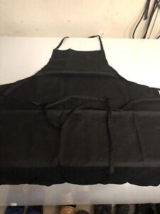 """1 New Black Bib Polyester Apron 33/""""L x 28/""""W"""