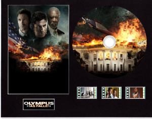 Olympus-Has-Fallen-film-cells-10x8-mounted-with-CD-amp-3-cells-5-cd-images