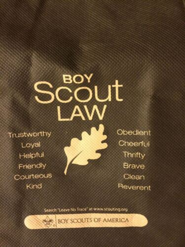 """BOY SCOUT 8 SET LOT OUTDOOR CODE BIG 13/"""" ECO FRIENDLY TOTE SHOPPING BAGS NEW"""