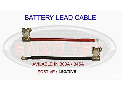 HEAVY DUTY 300 AMP 345 AMP CABLE LIVE EARTH STRAP BATTERY LEAD NEGATIVE TRUCK