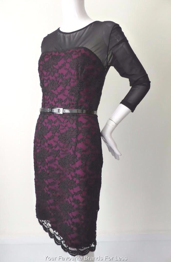 JANE LAMERTON PETITES - NWT - rrp  Größe 10 US 6  Long Sleeve Lace  Sheath