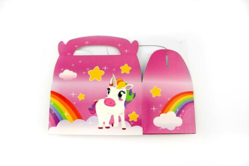 48pk  Unicorn Rainbow Gift Treat Boxes Birthday Party Goody Favors Supplies