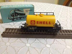 Marklin 4502 wagon tank Shell DB Ho 1:87