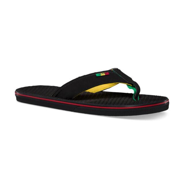 609c217a8a8 VANS La Costa Mens Sandals (NEW) Flip Flops THONGS Black 420 RASTA Free  Shipping
