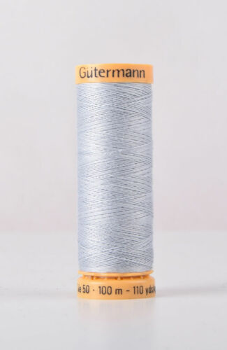 Gutermann 100/% Algodón Natural Hilo de Coser Col 6117-100m