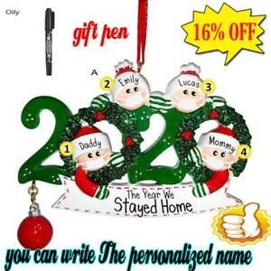 2020-Merry-Christmas-Xmas-Tree-Hanging-Ornaments-Family-Personalized-Decor-DIY