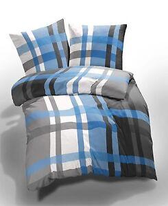 et rea microfaser bettw sche seersucker urban check karo kariert blau wei grau ebay. Black Bedroom Furniture Sets. Home Design Ideas