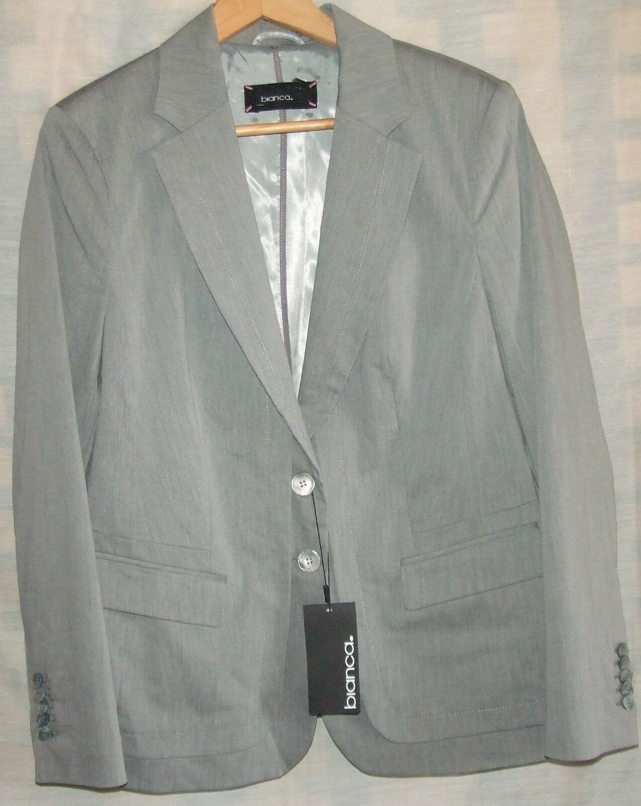 white VESTE greyE MANCHES LONGUES size 44 EN COTON ET POLYESTER