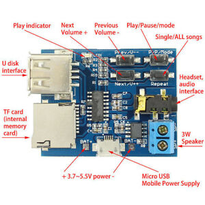 Tarjeta-TF-U-disco-MP3-Amplificador-de-modulo-de-Placa-Decodificador-de-formato-Reproductor-De-Audio