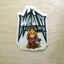 World Industries skateboard vinyl sticker vintage rare flame boy metal punk SK8