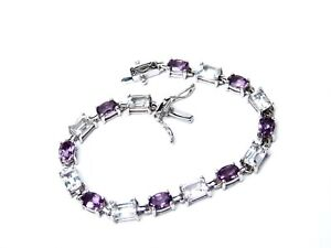 Genuine-Amethyst-and-White-Topaz-Bracelet-Sterling-Silver-17-36-carats