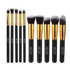 Abody 10 pezzi Set di Pennelli Make up Professionale Cosmetico per Nero e Oro