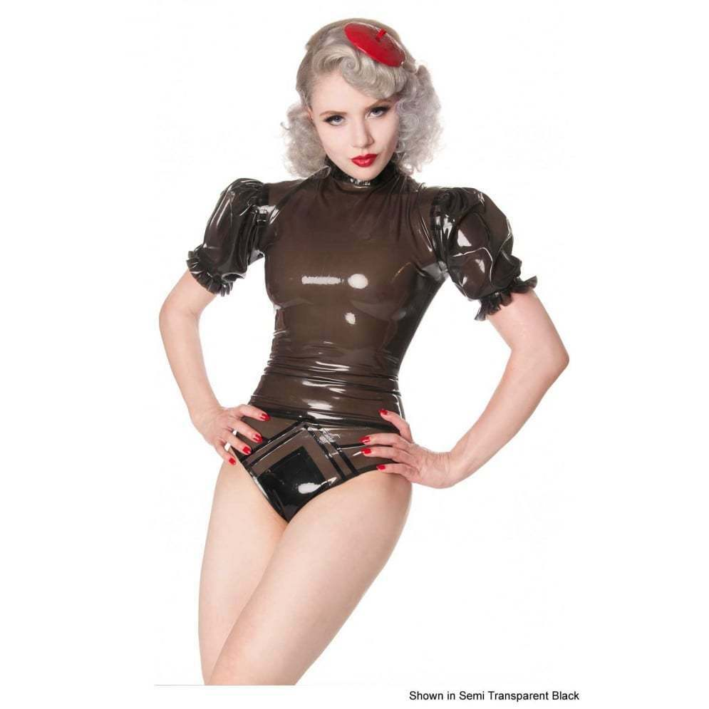 R1404 Latex Rubber Frilly Dam TOP Pewter 22 UK SECONDS RRP