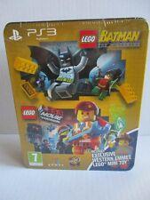 SONY PS3 Spiel LEGO Batman/Movie + Zurück in die Zukunft Emmet Minifigur NEU OVP