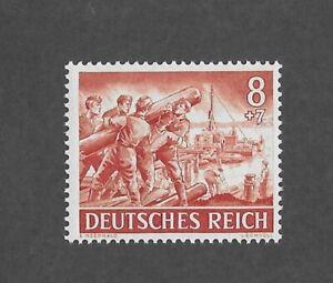 MNH stamp / 1943 /  PF08 + PF07 / Wehrmacht engineers  / WWII Third Reich Army