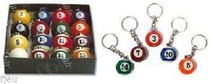 Porte-clefs Aramith boule de billard US americain numéro au choix