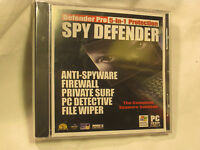 Spy Defender Softwaredefender Pro 5-in-1 Protection Spy Defender Firewall Pc