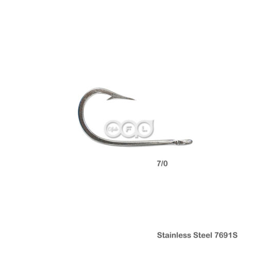 15pcs Fishing 7691S Stainless Steel Hook Size 7//0 Big Game Southern Tuna Hooks