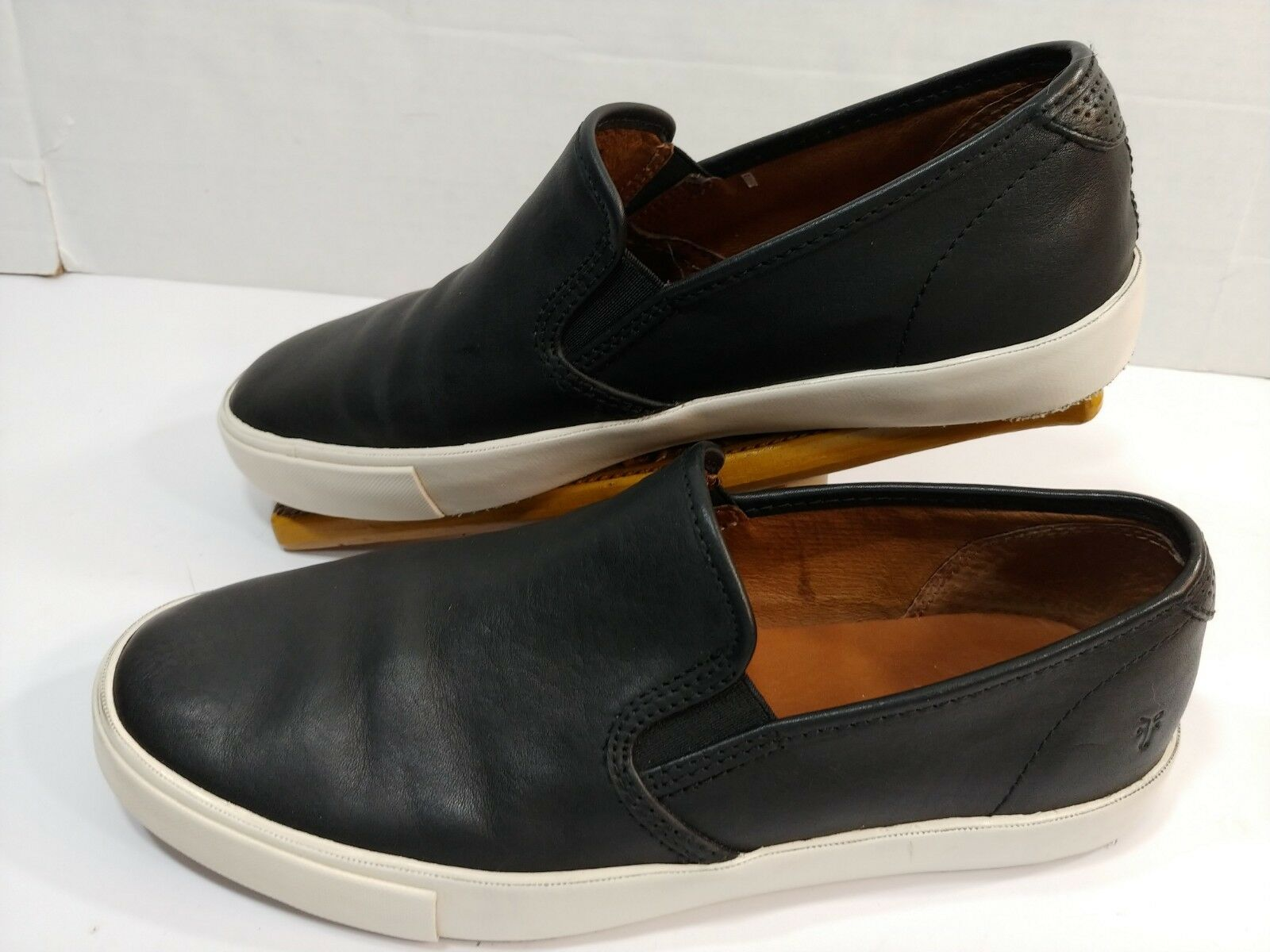 Frye Camille BLACK Leather Slip-on Sneaker Casual Fashion Loafers Mens 8.5M