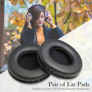 2Pcs-Black-100mm-Ear-Pads-Cushion-Earpad-Cover-Replacement-Foam-Headphone-Pillow