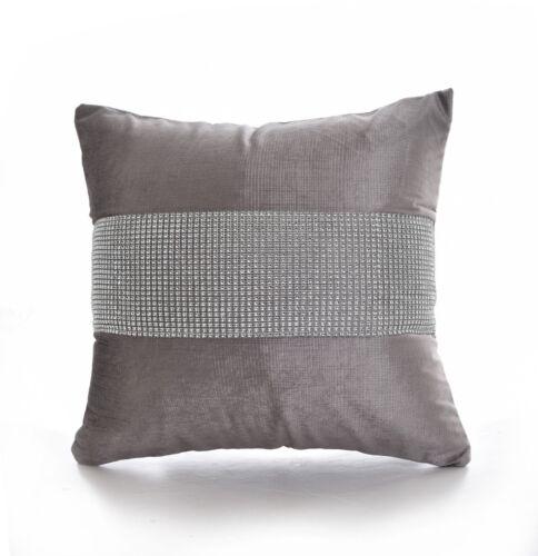 "New Soft Diamante Stripe Velvet Cushion Covers 17/"" X 17/"" Bedside canapé Home Decor"