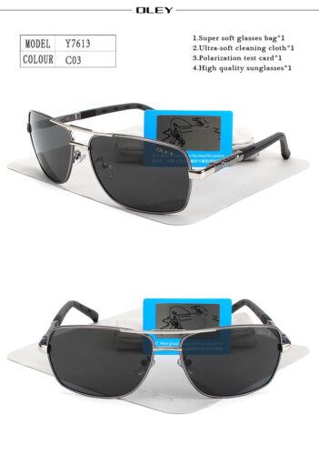 Oley Brand lunettes de soleil POLARISÉES hommes New Fashion Yeux Protection Lunettes de soleil unisexe
