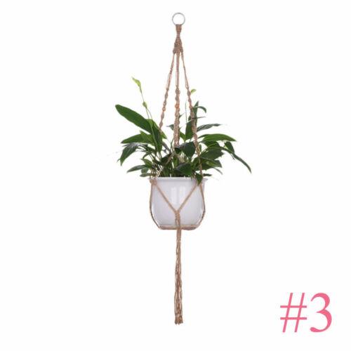 Braided Craft Pot Garden Hook Jute Rope Basket Holder Plant Hanger Cotton Cord
