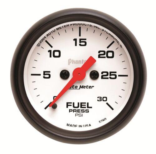 "AutoMeter 5760 Phantom Electric Fuel Pressure Gauge 2 1//16/"" 0-30 psi"