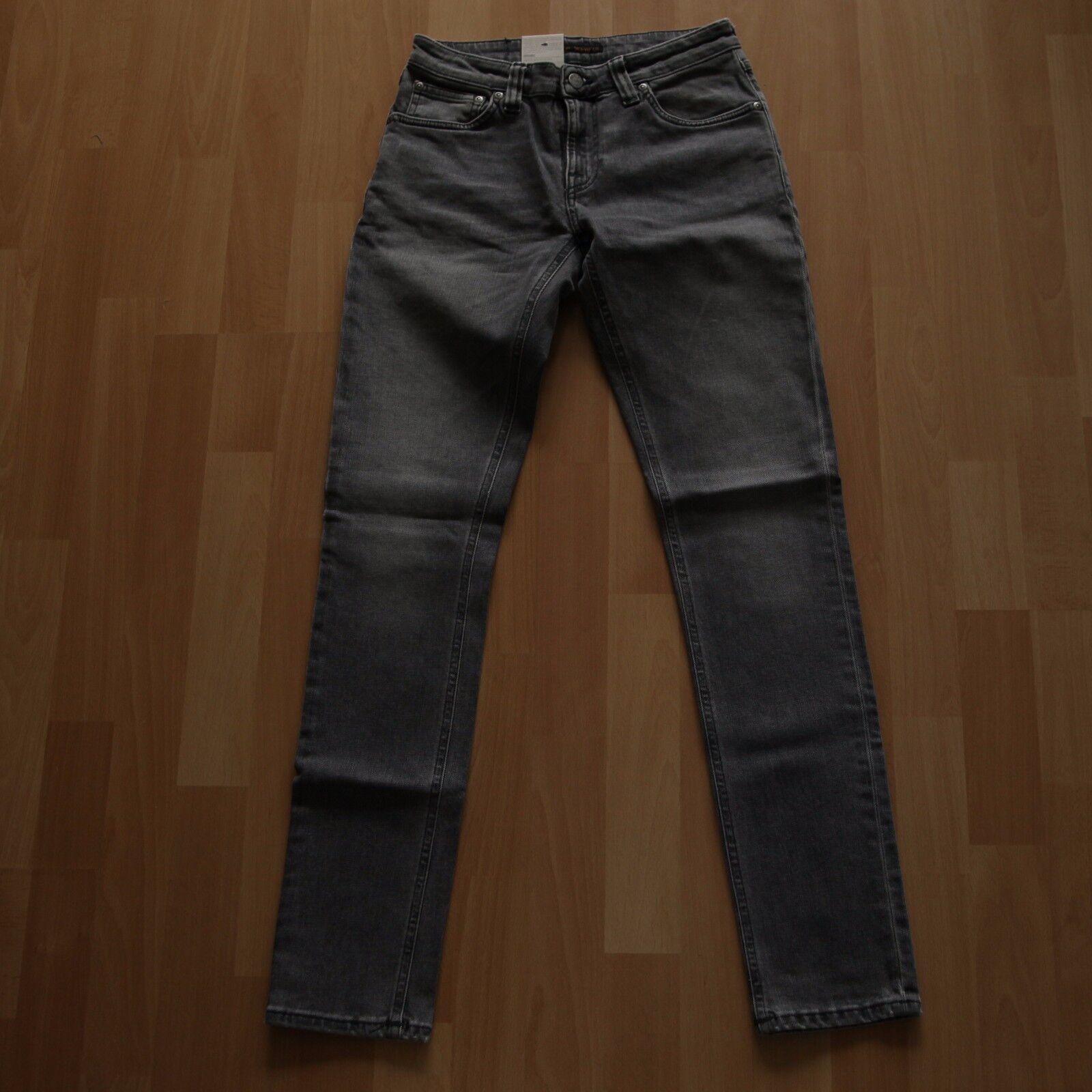 NEU Nudie Jeans Skinny LIN (skinny legs) Organic Grey Wolf 28 32