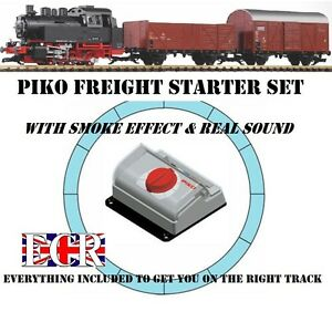 NEW-PIKO-BR80-G-SCALE-STARTER-SET-SMOKE-SOUND-45mm-GAUGE-TRAIN-LGB-BACHMANN-ETC