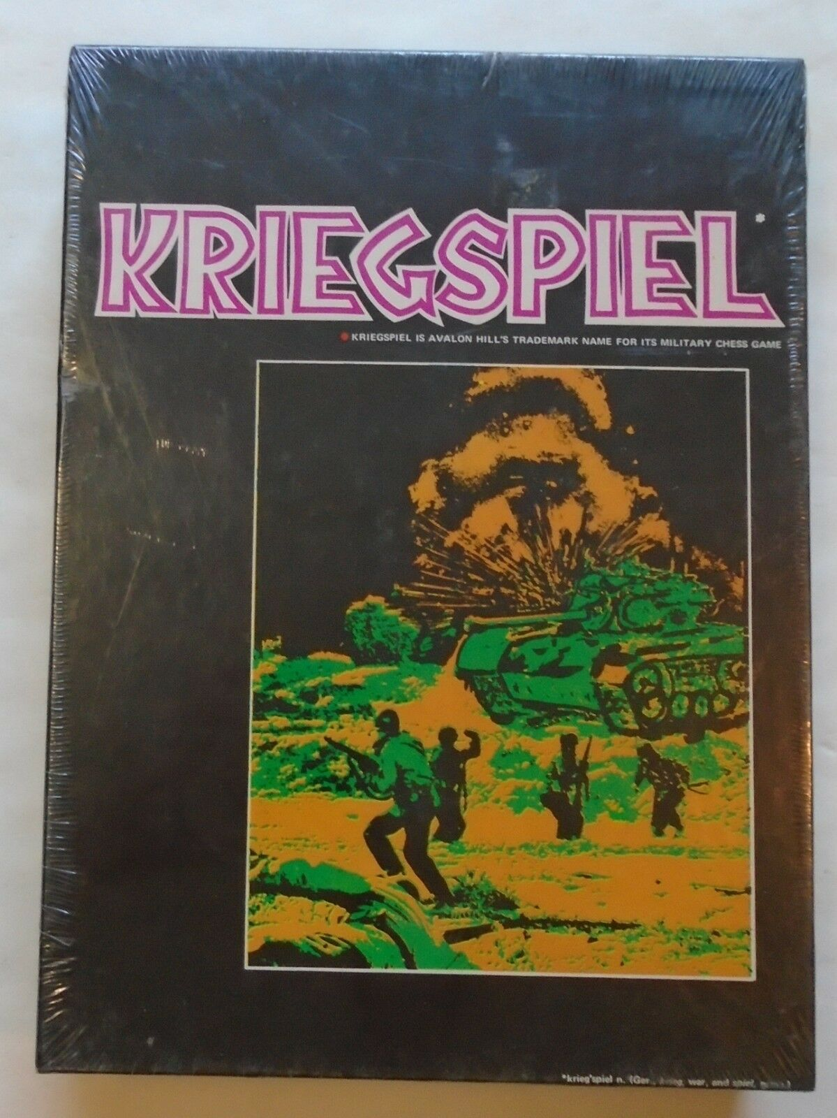 Sealed Vintage 1970 Kriegspeil Bookcase Game Board Game War Game