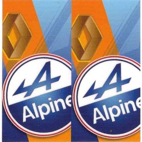 """Sticker /"""" ALPINE RENAULT /"""" 68mm x 65mm BIC Lighter"""