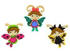Flutter Bugs Novelty Buttons Jesse James Fairy Theme Pack