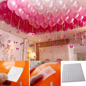 100-points-Ballon-Fixation-Colle-Dot-fixer-au-plafond-mur-Party-Decor-Supply