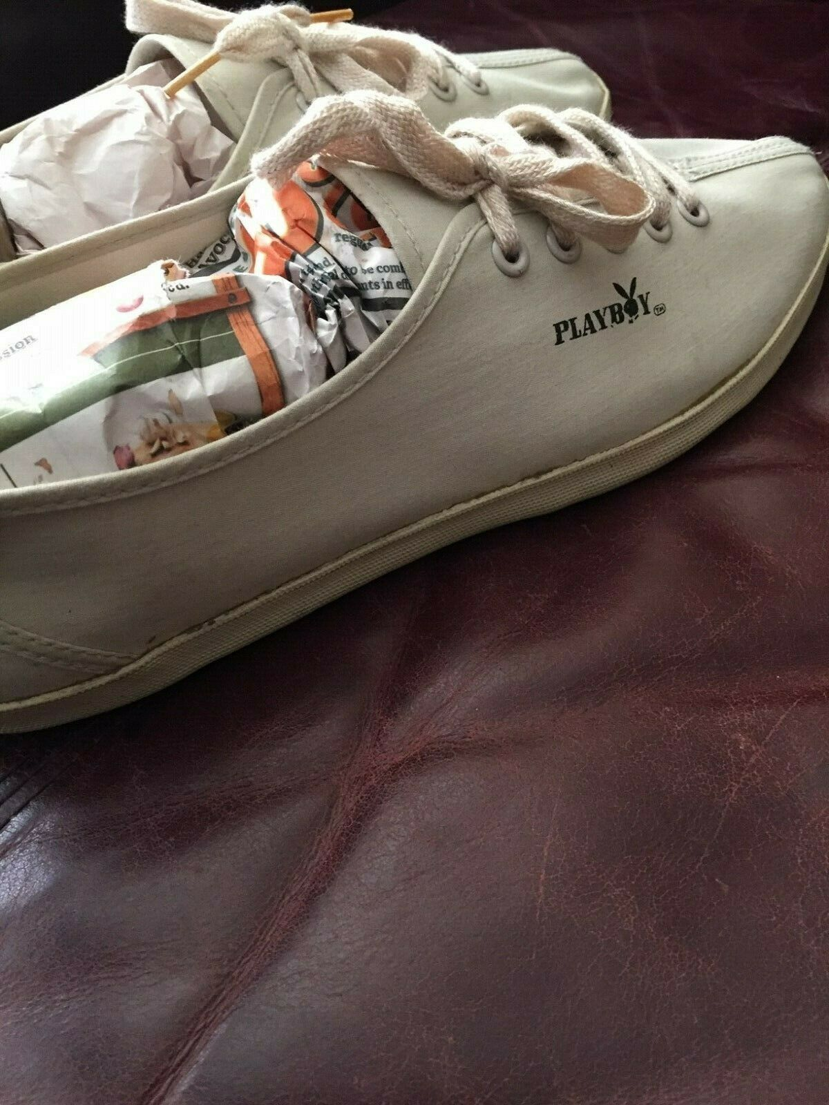 Playboy White Sneakers -Size 10 and Black Handbag Lot
