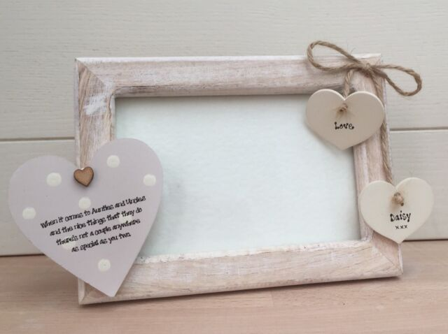 Shabby Personalised Chic Photo Frame Auntie Aunty Great Aunt Uncle 6 ...